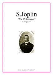 Cover icon of The Entertainer (parts) sheet music for string quartet by Scott Joplin, classical score, intermediate