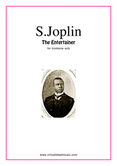 Cover icon of The Entertainer sheet music for trombone solo by Scott Joplin, classical score, easy