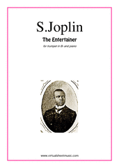 Cover icon of The Entertainer sheet music for trumpet and piano by Scott Joplin, classical score, intermediate skill level