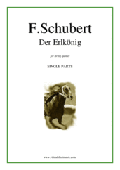 Cover icon of Der Erlkonig (COMPLETE) sheet music for string quintet by Franz Schubert, classical score, intermediate string quintet