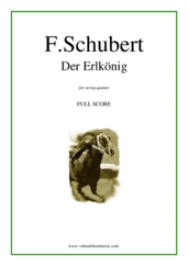 Cover icon of Der Erlkonig (f.score) sheet music for string quintet by Franz Schubert, classical score, intermediate skill level