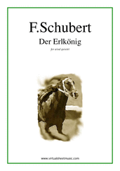Cover icon of Der Erlkonig (parts) sheet music for wind quintet by Franz Schubert, classical score, intermediate skill level