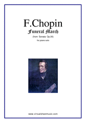 Cover icon of Funeral March sheet music for piano solo by Frederic Chopin, classical score, intermediate