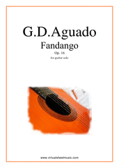 Cover icon of Fandango Op.16 sheet music for guitar solo by Garcia Dionisio Aguado, classical score, easy/intermediate guitar