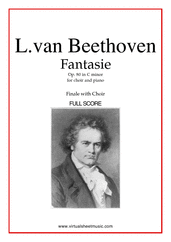 Cover icon of Fantasie Op.80 in C minor, Finale (f.score) sheet music for choir and piano by Ludwig van Beethoven, classical score, intermediate