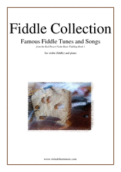 Fiddle Collection, Famous Fiddle Tunes for violin and piano - easy violin sheet music