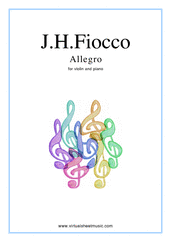 Cover icon of Allegro sheet music for violin and piano by Joseph Hector Fiocco, classical score, easy