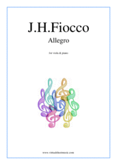 Cover icon of Allegro sheet music for viola and piano by Joseph Hector Fiocco, classical score, easy