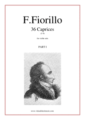 Cover icon of Caprices, 36 part I (1-9) sheet music for violin solo by Federigo Fiorillo, classical score, intermediate/advanced