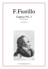 Cover icon of Caprices No. 3 (from 36 Caprices) sheet music for violin solo by Federigo Fiorillo, classical score, intermediate/advanced skill level