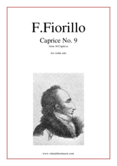 Cover icon of Caprices No. 9 (from 36 Caprices) sheet music for violin solo by Federigo Fiorillo
