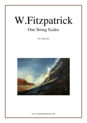 Cover icon of One String Scales sheet music for violin solo by William Fitzpatrick, easy skill level