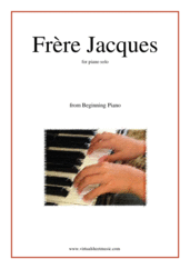 free Frere Jacques (Are you sleeping?) for piano solo - beginner classical sheet music