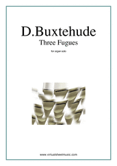 Cover icon of Three Fugues sheet music for organ solo by Dietrich Buxtehude, classical score, intermediate skill level
