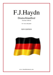 Cover icon of Deutschlandlied (German Anthem) sheet music for piano, voice or other instruments by Franz Joseph Haydn, easy/intermediate skill level