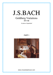 Cover icon of Goldberg Variations (COMPLETE) sheet music for piano solo (or harpsichord) by Johann Sebastian Bach, classical score, intermediate/advanced piano (or harpsichord)