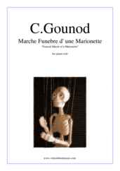 Cover icon of Funeral March of a Marionette sheet music for piano solo by Charles Gounod, classical score, intermediate/advanced piano