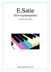 Cover icon of Trois Gymnopedies sheet music for clarinet and piano by Erik Satie, classical score, easy/intermediate