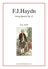 Cover icon of String Quartet in D minor Op.42 No.35 (f.score) sheet music for string quartet by Franz Joseph Haydn, classical score, intermediate/advanced skill level
