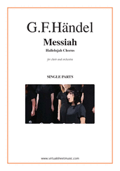 Cover icon of Hallelujah Chorus from Messiah (parts) sheet music for choir and orchestra by George Frideric Handel, classical score, intermediate/advanced skill level