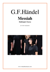 Cover icon of Hallelujah Chorus from Messiah sheet music for choir and piano by George Frideric Handel, classical score, intermediate/advanced skill level