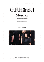 Cover icon of Hallelujah Chorus from Messiah (f.score) sheet music for choir and orchestra by George Frideric Handel, classical score, intermediate/advanced