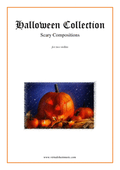 Cover icon of Halloween Sheet Music for two violins, classical score, intermediate/advanced duet