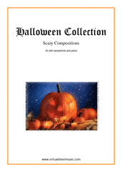 Cover icon of Halloween Sheet Music for alto saxophone and piano, classical score, intermediate/advanced