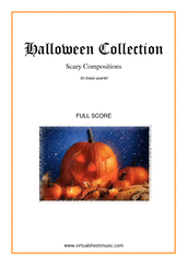 Cover icon of Halloween Sheet Music (f.score) for brass quartet, classical score, intermediate/advanced