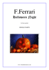 Cover icon of Halloween Night (COMPLETE) sheet music for brass quintet by Fabrizio Ferrari, intermediate brass quintet