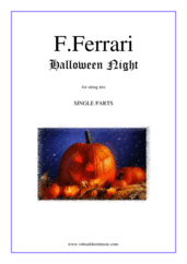 Cover icon of Halloween Night (parts) sheet music for string trio by Fabrizio Ferrari, intermediate