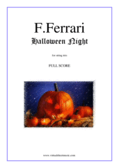 Cover icon of Halloween Night (f.score) sheet music for string trio by Fabrizio Ferrari, intermediate