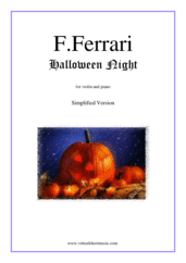 Cover icon of Halloween Night (simplified) sheet music for violin and piano by Fabrizio Ferrari, intermediate skill level