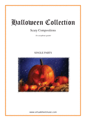 Cover icon of Halloween Sheet Music (parts) for saxophone quartet, classical score, intermediate/advanced saxophone quartet
