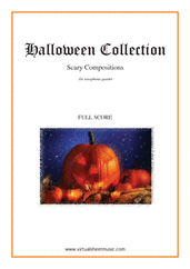 Cover icon of Halloween Sheet Music (f.score) for saxophone quartet, classical score, intermediate/advanced skill level