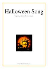 Cover icon of Halloween Song sheet music for piano, voice or other instruments, easy skill level