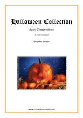 Cover icon of Halloween Sheet Music (simplified version) for violin and piano, classical score, easy