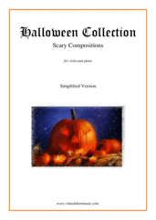 Cover icon of Halloween Sheet Music (simplified version) for viola and piano, classical score, easy