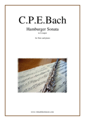 Cover icon of Hamburger Sonata in G major (H.550) sheet music for flute and piano by Carl Philip Emanuel Bach, classical score, intermediate