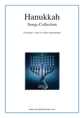 Hanukkah Songs Collection (Chanukah songs) for piano, voice or other instruments - classical voice sheet music