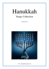 Cover icon of Hanukkah Songs Collection (Chanukah songs) sheet music for piano solo, classical score, easy