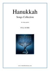 Cover icon of Hanukkah Songs Collection (Chanukah songs, COMPLETE) sheet music for string quartet, classical Christmas carol score, easy string quartet