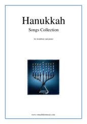 Cover icon of Hanukkah Songs Collection (Chanukah songs) sheet music for trombone and piano, classical Christmas carol score, easy trombone