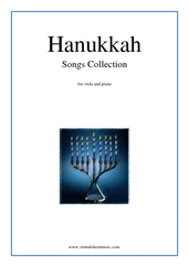 Cover icon of Hanukkah Songs Collection (Chanukah songs) sheet music for viola and piano, classical score, easy skill level