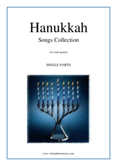 Cover icon of Hanukkah Songs Collection (Chanukah songs, COMPLETE) sheet music for wind quartet, classical Christmas carol score, easy wind quartet