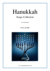 Cover icon of Hanukkah Songs Collection (Chanukah songs, f.score) sheet music for wind quartet, classical score, easy