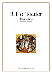Cover icon of String Quartet (for quintet, parts) sheet music for string quintet by Roman Hoffstetter, classical score, intermediate skill level