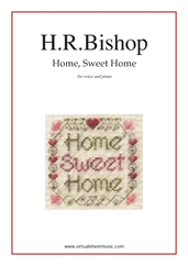 Cover icon of Home, Sweet Home sheet music for piano, voice or other instruments by Henry Rowley Bishop, easy skill level