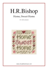Cover icon of Home, Sweet Home sheet music for violin and piano by Henry Rowley Bishop, easy violin