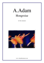 Cover icon of Hongroise sheet music for flute and piano by Adolphe Adam, classical score, easy skill level
